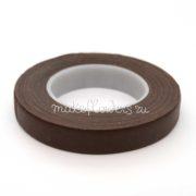 Флористическая тейп-лента 12 мм, коричневая