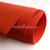 Фоамиран киноварь (красно-оранжевый)
