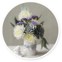 Мастер-класс: Зимний букет «Эльза» с хризантемами