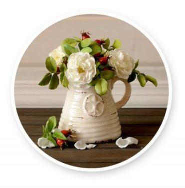 Мастер-класс Махровый шиповник с ягодами из фоамирана
