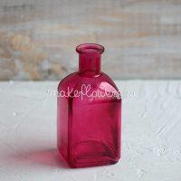 Ваза Бутылочка розовая