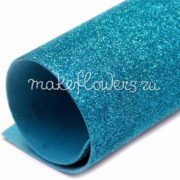 Глиттерный фоамиран Светло-синий