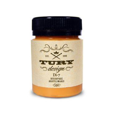 Акриловая краска TURY Design мандариновый