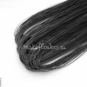 Проволока флористическая фольгированная черная