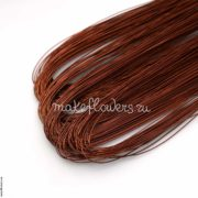 Проволока флористическая фольгированная коричневая