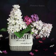 Примеры цветов из фоамирана сделанных на вайнерах сирени