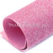 Фоамиран глиттерный, Бледно-розовый