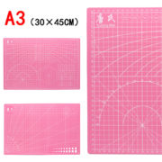 Мат для резки двусторонний А3+, розовый