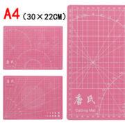 Мат для резки двусторонний А4+, розовый