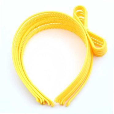 """Ободок пластиковый """"Бантик"""", желтый"""
