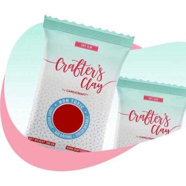 Полимерная зефирная глина Crafters Clay, красная