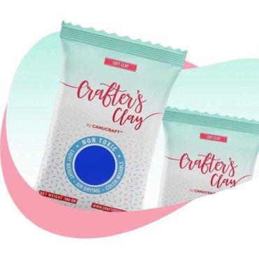 Полимерная зефирная глина Crafters Clay, синяя