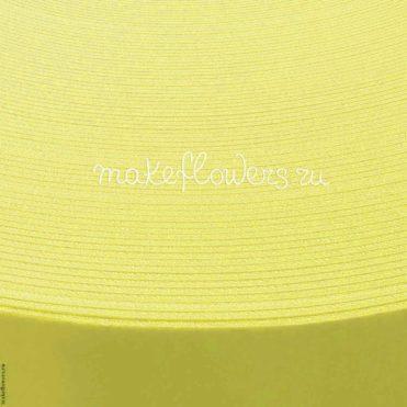 Изолон для цветов ППЭ 2 мм, Лимонный - ширина 75см (0,75 кв. м)