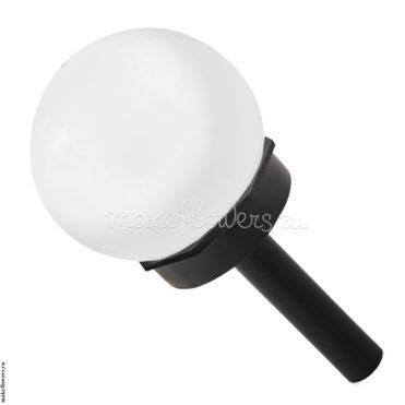 Плафон 10 cм на черном основании, белый матовый