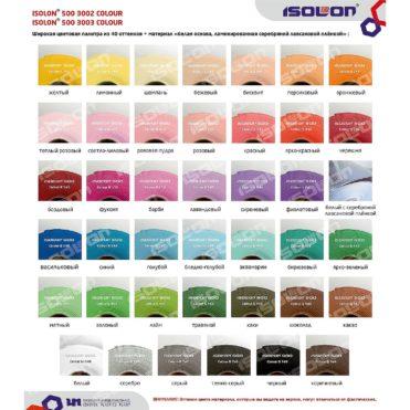 Актуальные цвета изолона, III кв. 2020 г.