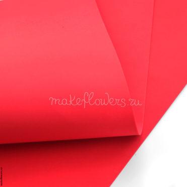 Фоамиран зефирно-шелковый 60×70, Карминовый