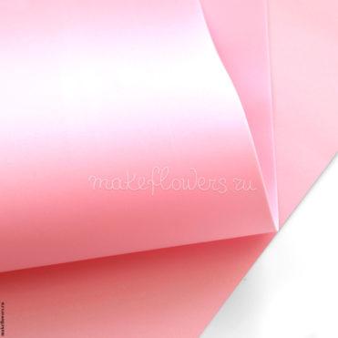 Фоамиран зефирно-шелковый 60x70, Бледно-розовый