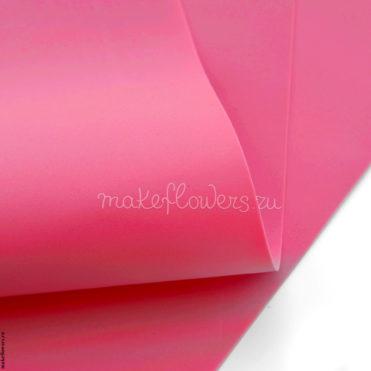 Фоамиран зефирно-шелковый 60x70, Темно-розовый