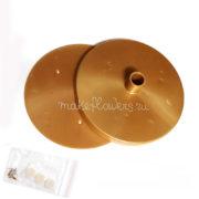 Подставка-основание 150мм для светильника из изолона, золотая