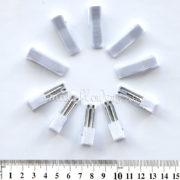 Основа для заколки зажим металл-ткань с двойным язычком, 3.5 см, белый, 10 шт.