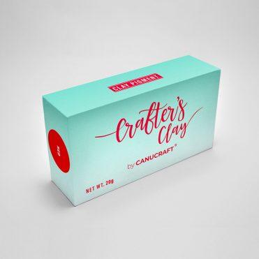 Полимерная зефирная глина Crafters Clay в мини-упаковке, Красная